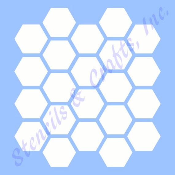 1 HONEYCOMB HEXAGON Schablone Bienenstock Form