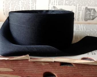 ebony black silk ribbon