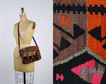 Bohemian Purse / Aztec Crossbody Bag / Southwestern Bag / Tapestry Bag / Ethnic Carpet Purse