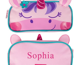 Unicorn Personalized Pencil Pouch, pencil case, school supplies, gifts for kids, printed, zipper, carrying case, girls -gfyV00032