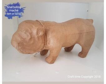 Decopatch small bulldog maché item or full kit