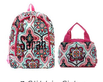 Monogram  Backpack Sets-backpack and lunch bags set-lunch boxes-backpacks-diaper bag