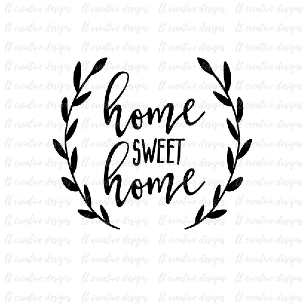 Download Free Kitchen Design Software Home Sweet Home Svg Cricut Svg Silhouette Cut Files Wreath