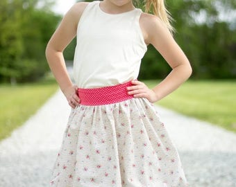 Bubble Skirt PDF Sewing Pattern, including sizes 12 months-12 years, Girls Skirt Pattern