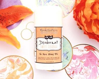 Orange Cream Organic Deodorant - Vegan Natural Deodorant Aluminum Free - Organic Sweet Orange Natural Cream Deodrant