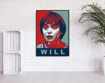 """Stranger Things """"Will"""" Hope Print"""