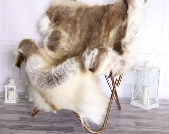 Reindeer Hide   Reindeer Rug   Reindeer Skin   Throw Large  - XXL EXTRA LARGE  Scandinavian Style #BRE2