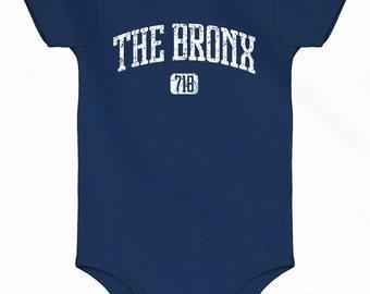 Baby Bronx One Piece - New York 718 Romper - Newborn 6m 12m 18m 24m - 4 Colors