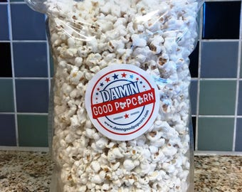 Dill Pickle Flavored Gourmet Popcorn Large 8 oz Bag by Damn Good Popcorn