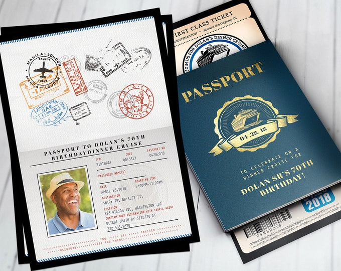 Rock the boat, Cruise party, Birthday invitation , Bon Voyage, travel, passport, dinner cruise, invite, nautical, Digital files only