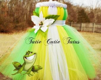 The Princess and The Frog Princess Tiana Inspired Tutu Dress Disney NB-8