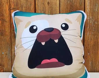 Chuck the super soft, comfortable, huggable Cat Pillow for the home (1)
