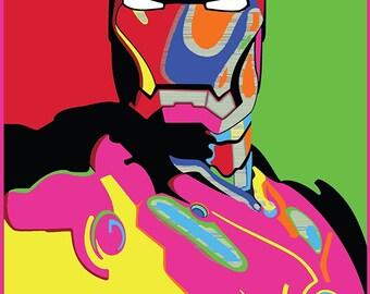 Iron Man HOPE POP ART Marvel Poster Large A1 Captain America Avengers Deadpool Arty Effect Bedroom Poster