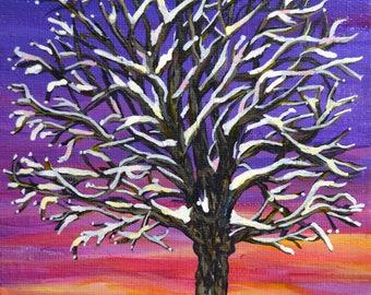 Original Acrylic Sunset landscape Painting - 6