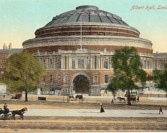 The Albert Hall in London, vintage postcard.