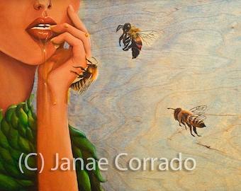 Nectar Open Edition fine art print, bumble bee, honey, bee, hive, bee keeping, beekeepers friend