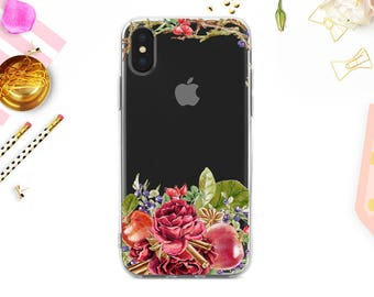 iPhone 8 Case iPhone 8 Plus Case iPhone X Case iPhone 7 Case iPhone 6 Case Rubber Case Samsung Galaxy Case Galaxy S8 Floral BD1018