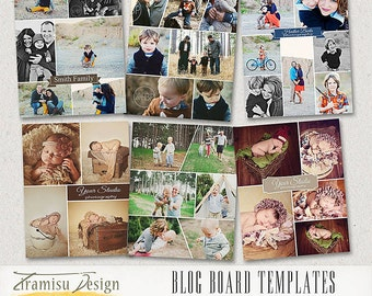 Print Collage Templates - Blog Board Photoshop Templates ,Story Board Templates, 16x20invol.11