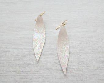 Christmas Cookie Rainbow Metallic Splash Earrings - Faux Leather Earrings - lightweight earrings - Jewelry for women - gifts for her - vday