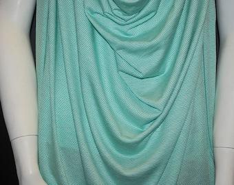 European Modal Spandex Pointelle knit jersey fabric ecofriendly mint