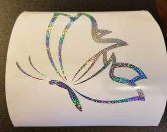 Holographic Butterfly Vinyl Decal