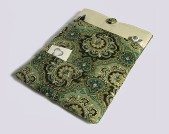 iPad Case, Sony Xperia case, iPad Air Sleeve, iPad Air 2 case, Kindle Fire 8.9, iPad Pro Case, Turquoise Paisley