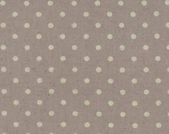 Moda. Mochi Dot. Putty Cotton/Linen. - Choose your Cut and Print.