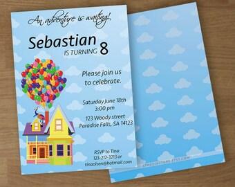 UP - Birthday Party Invitation - Digital Printable Custom Invitation - 5 x 7