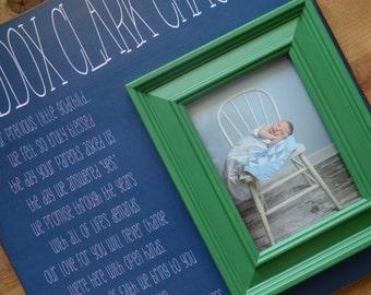 Christening Baptism Godchild BOY Custom Personalized Picture Frame Gift, Gift for Godchild