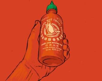 Sriracha - Art Print