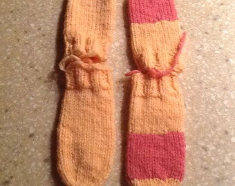 Sweet Hand Knit Mittens for Baby