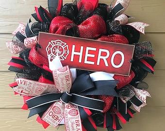 Firefighter Wreath; Fire Wreath; First Responder Wreath