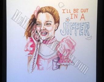 """Never Been Kissed """"Josie Grossie"""" art Print"""