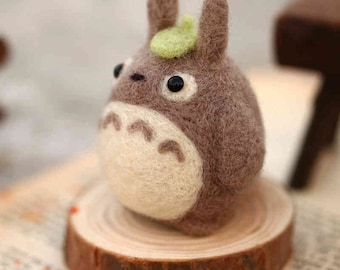 Wool Needlecraft Needlepoint Needle Felting Cute Kit Totoro