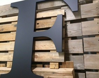 Big Wooden 36 in Letter | Wedding Guest Book Wooden Letter | Painted Letter Wall Art | Wooden Letter F Guest Book | Letter for Walls