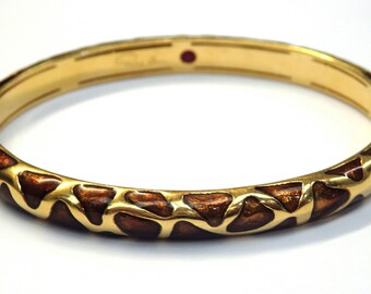 18k Yellow Gold Enamel Design Roberto Coin Bangle Bracelet #253579787407