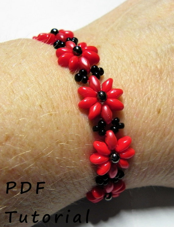Pretty Posy Bracelet PDF Tutorial/Pattern