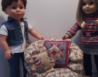 Comfy Chair for 18 inch Dolls