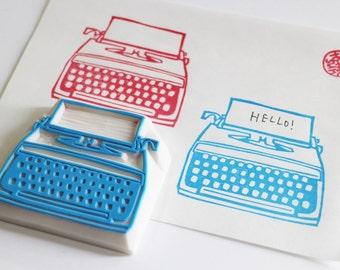 vintage typewriter rubber stamp | retro stamp | birthday scrapbooking | card making | diy art journal planner | hand carved by talktothesun