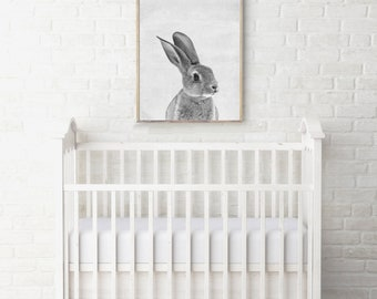 Bunny Print - Bunny Nursey Print - Bunny Nursery Art - Bunny Decor - Bunny Wall Art - Nursery Decor