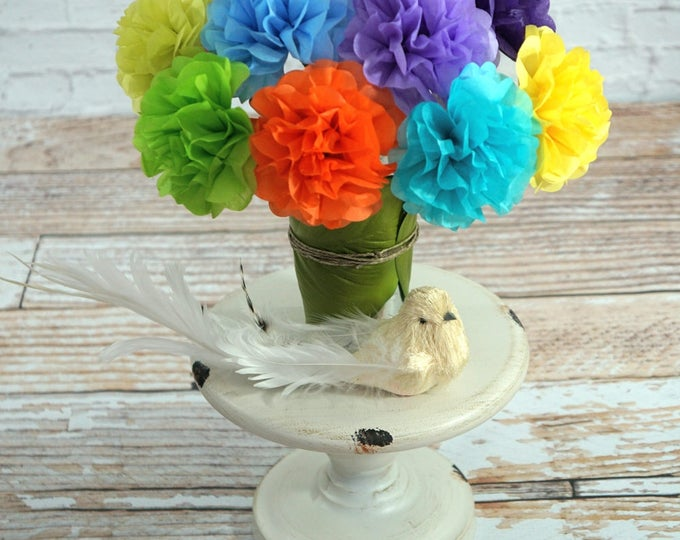 Mini Tissue Paper Flowers (12 count) Choose Your Own Colors
