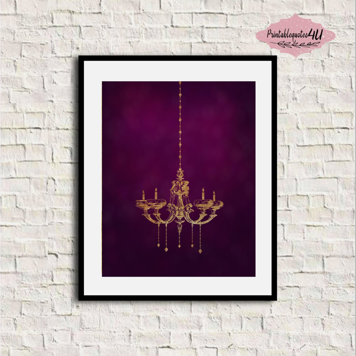 Gold chandelier print chandelier wall art gold wall art zoom arubaitofo Choice Image