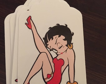 Betty Boop Gift  Tags Set of 8