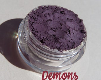 Demons - Dark Matte Plum Blue Purple Mineral Eyeshadow | Loose Pigments | Cruelty-Free | Vegan Mineral Eye Shadow