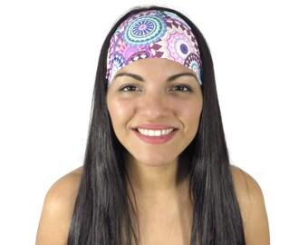 Yoga Headband Workout Headband Summer Running Headband Hippie Headband Bohemian Turban Fashion Wide Headband No Slip Women Headband S216