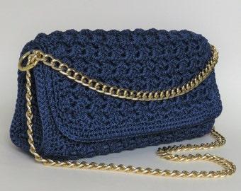 luxury crochet bag| big shoulder bag| bubble Prada-stitch bag| stylish blue bag| crossbody bag| elegant handbags| designer handbags