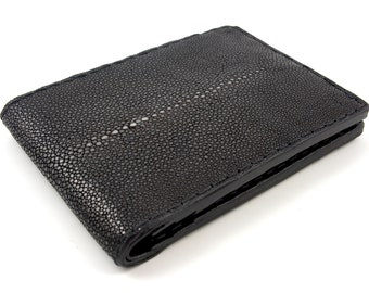 Black stingray wallet for man