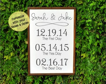 Valentines Day Gifts for Her, Date Sign Wall art, Valentines Gifts, Personalized Gifts for Women, Husband to Wife Gift, Anniversary Gifts