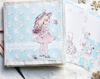 Spring/Summer List Journal,  Printable kit, junk journal, mini album, digital