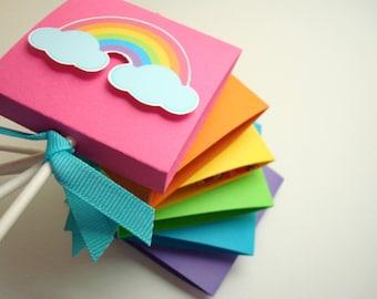 Arc en ciel lumineux Lollipop Party Favors, ensemble de dix
